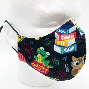 Handmade 100% Cotton Face Mask - Back to School